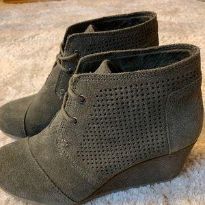 TOMS wedge booties size 6.5 NWOT